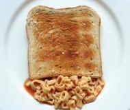Pane tostato degli spaghetti Immagine Stock Libera da Diritti