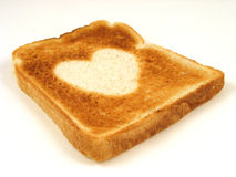 Pane tostato del cuore Immagini Stock Libere da Diritti