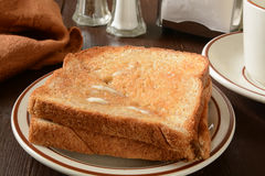 Pane tostato del grano intero Fotografie Stock