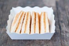 Pane tostato del pane con zucchero Fotografia Stock