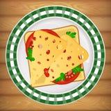 pane tostato del panino Fotografia Stock