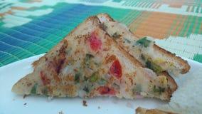 Pane tostato del semolino Fotografia Stock Libera da Diritti