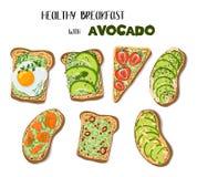 Pane tostato dell'avocado di vettore royalty illustrazione gratis
