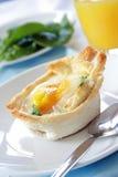 Pane tostato dell'uovo Immagini Stock Libere da Diritti