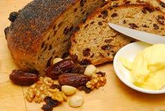 Pane tostato dell'uva passa Immagini Stock