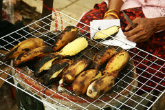 Pane tostato della banana Fotografie Stock