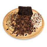 Pane tostato della banana del cioccolato isolato su fondo bianco Immagini Stock Libere da Diritti