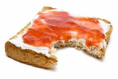Pane tostato della prima colazione con ostruzione Fotografia Stock Libera da Diritti
