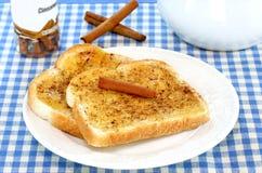 Pane tostato di cannella Immagine Stock