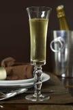 Pane tostato di Champagne Immagini Stock