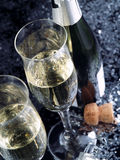 Pane tostato di Champagne. Fotografia Stock