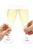 Pane tostato di Champagne Fotografie Stock Libere da Diritti