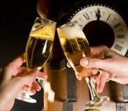 Pane tostato di Champagne Fotografia Stock Libera da Diritti