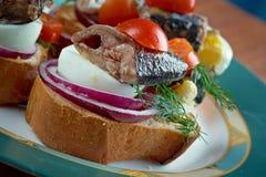 Pane tostato di Nicoise Immagini Stock Libere da Diritti