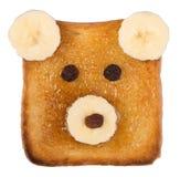 Pane tostato divertente per i bambini Fotografia Stock