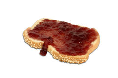 Pane tostato e conserve Immagine Stock