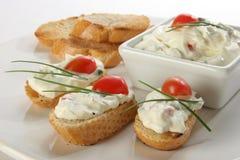 Pane tostato e formaggio Fotografia Stock Libera da Diritti