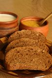 Pane tostato e miele Fotografia Stock