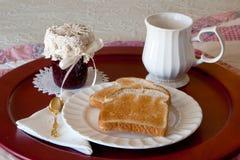 Pane tostato ed ostruzione Immagini Stock