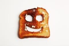 Pane tostato felice Fotografie Stock Libere da Diritti