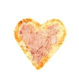 Pane tostato a forma di del cuore immagine stock libera da diritti
