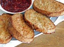 Pane tostato francese Cuore-Astuto Immagini Stock Libere da Diritti