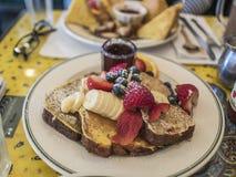 pane tostato francese della prima colazione Fotografia Stock Libera da Diritti