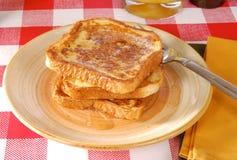 Pane tostato francese dorato Fotografia Stock Libera da Diritti