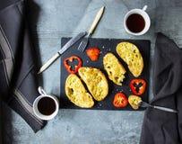 Pane tostato francese per la prima colazione Fotografie Stock Libere da Diritti