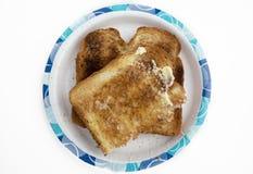 Pane tostato imburrato Fotografie Stock Libere da Diritti