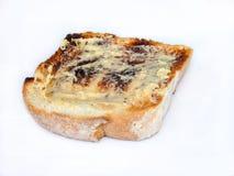 Pane tostato imburrato Fotografia Stock Libera da Diritti