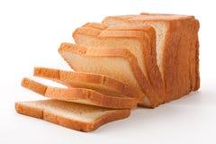 Pane tostato isolato su bianco Fotografia Stock
