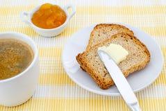 Pane tostato per la prima colazione Immagini Stock