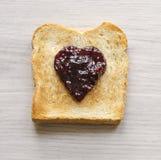 Pane tostato squisito con ostruzione Fotografia Stock Libera da Diritti