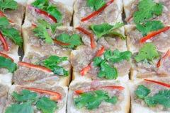 Pane tostato tritato della carne di maiale immagini stock libere da diritti