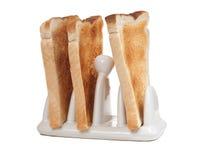 Pane tostato in una cremagliera del pane tostato Fotografie Stock Libere da Diritti
