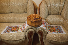 Pane ucraino di nozze Immagine Stock