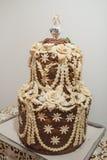 Pane ucraino di nozze Immagini Stock