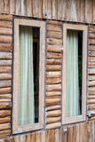 Pane window decorate teak. Wooden house Royalty Free Stock Image