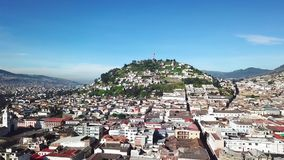 Panecillo Hill and historic center of Quito daytime. Panecillo Hill and historic center of Quito Ecuador daytime stock footage
