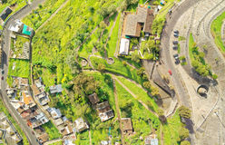 Panecillo Hill South Of Quito Aerial Royalty Free Stock Photography