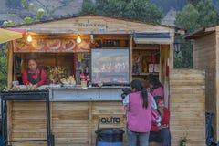 Panecillo Street Food Market Quito Ecuador Stock Image
