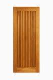 Paneel van de teak het houten deur op geïsoleerde witte achtergrond Royalty-vrije Stock Foto