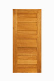 Paneel van de teak het houten deur op geïsoleerde witte achtergrond Royalty-vrije Stock Foto's