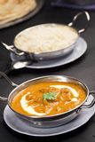 Paneer Butter Masala in Bowl with Rice Stock Image