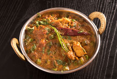 Paneer Butter Masala. In a brass bowl Stock Photography