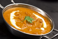 Paneer Butter Masala, Chunks of Paneer Cheese in Spicy Tomato Sauce Royalty Free Stock Image