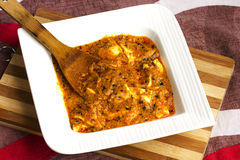Paneer Butter Masala. Indian cuisine paneer butter masala in white bowl Stock Image