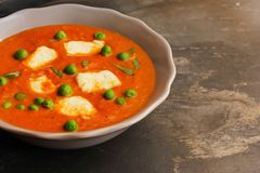 Paneer Butter masala with mutter Indian Curry Stock Image