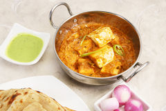 Paneer Butter Masala with Prantha Royalty Free Stock Images
